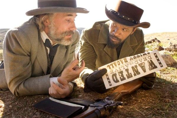 Cena com Christoph Waltz e Jamie Foxx de Django Livre, de Quentin Tarantino.