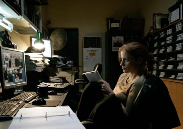 Jessica Chastain em A Hora Mais Escura