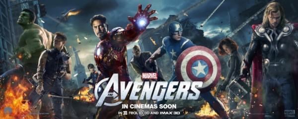 Banner promocional que divulgou Os Vingadores mundo afora (foto por Beyondhollywood.com)