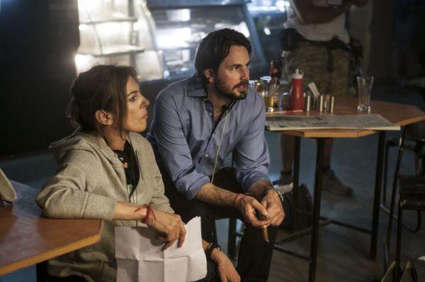 Kathryn Bigelow ao lado do roteirista Mark Boal, responsáveis pela transformação do roteiro de A Hora Mais Escura (foto por OutNow.CH)
