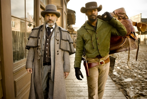 Dr. King Schultz e Django formam uma dupla um tanto incomum (photo by BeyongHollywood.com)