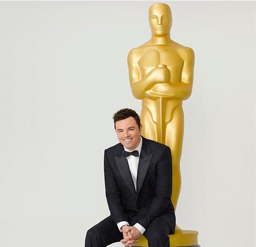 Seth MacFarlane em foto promocional do Oscar 2013. Ele também concorre em Melhor Canção Original (photo by filmequals.com)