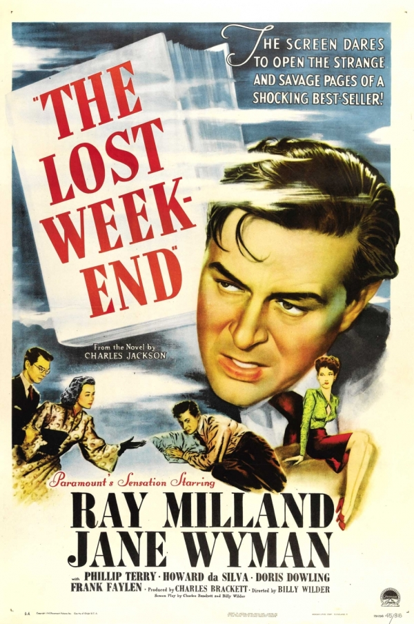 Farrapo Humano (The Lost Weekend), de Billy Wilder: 4 Oscars