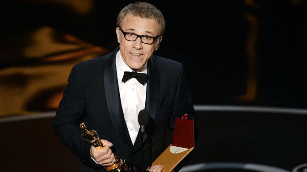 Christoph Waltz recebe seu segundo Oscar de coadjuvante sob a direção de Quentin Tarantino (photo by movies.yahoo.com)