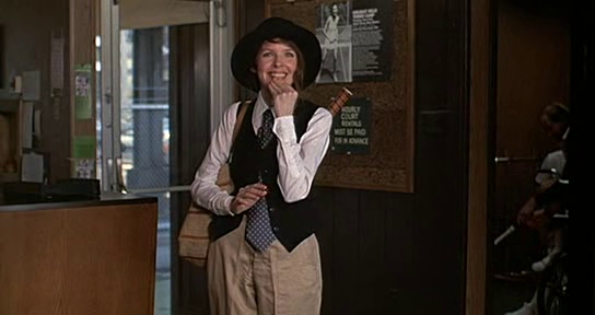 Diane Keaton inaugura um estilo em Noivo Neurótico, Noiva Nervosa (photo by moviepilot.de)