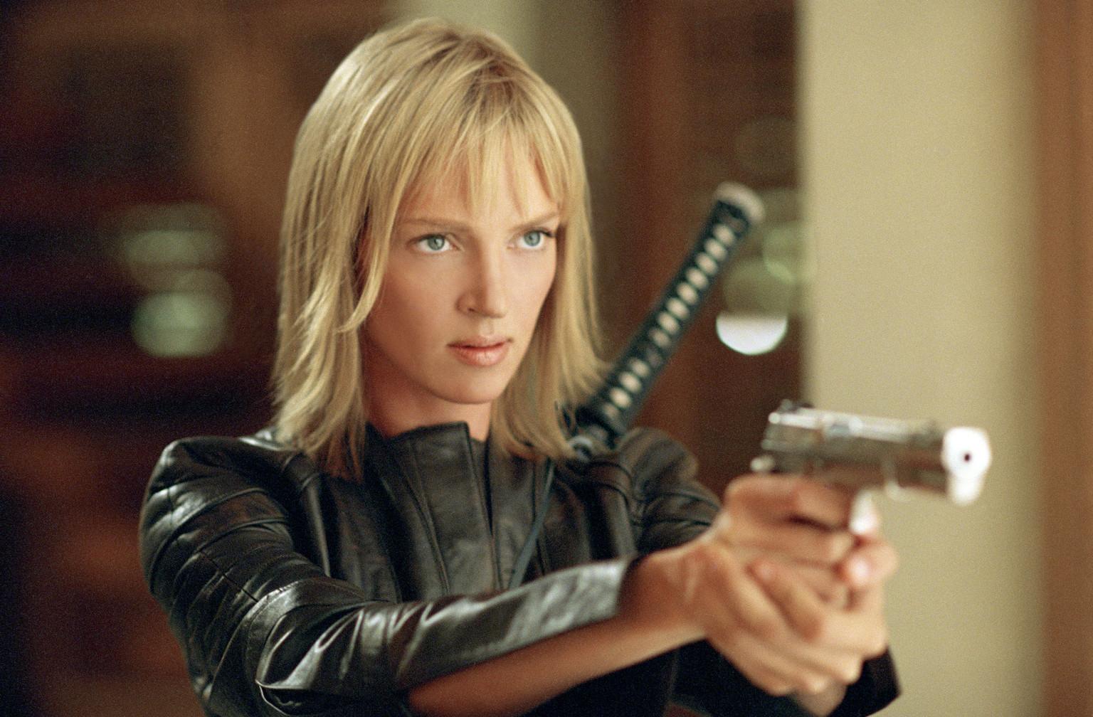 Uma Thurman em Kill Bill (photo by gunslot.com)