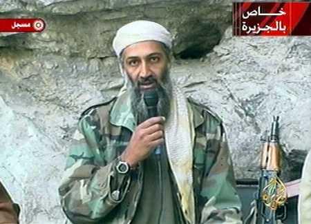 Osama Bin Laden em um de seus vídeos (photo by eslbrazil.blogspot.com)