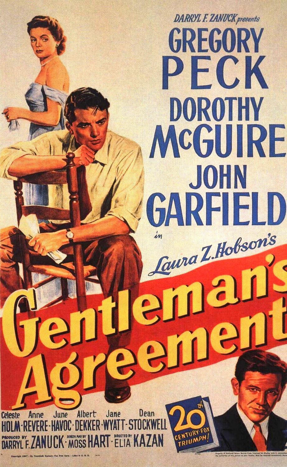 A Luz é Para Todos (Gentleman's Agreement), de Elia Kazan