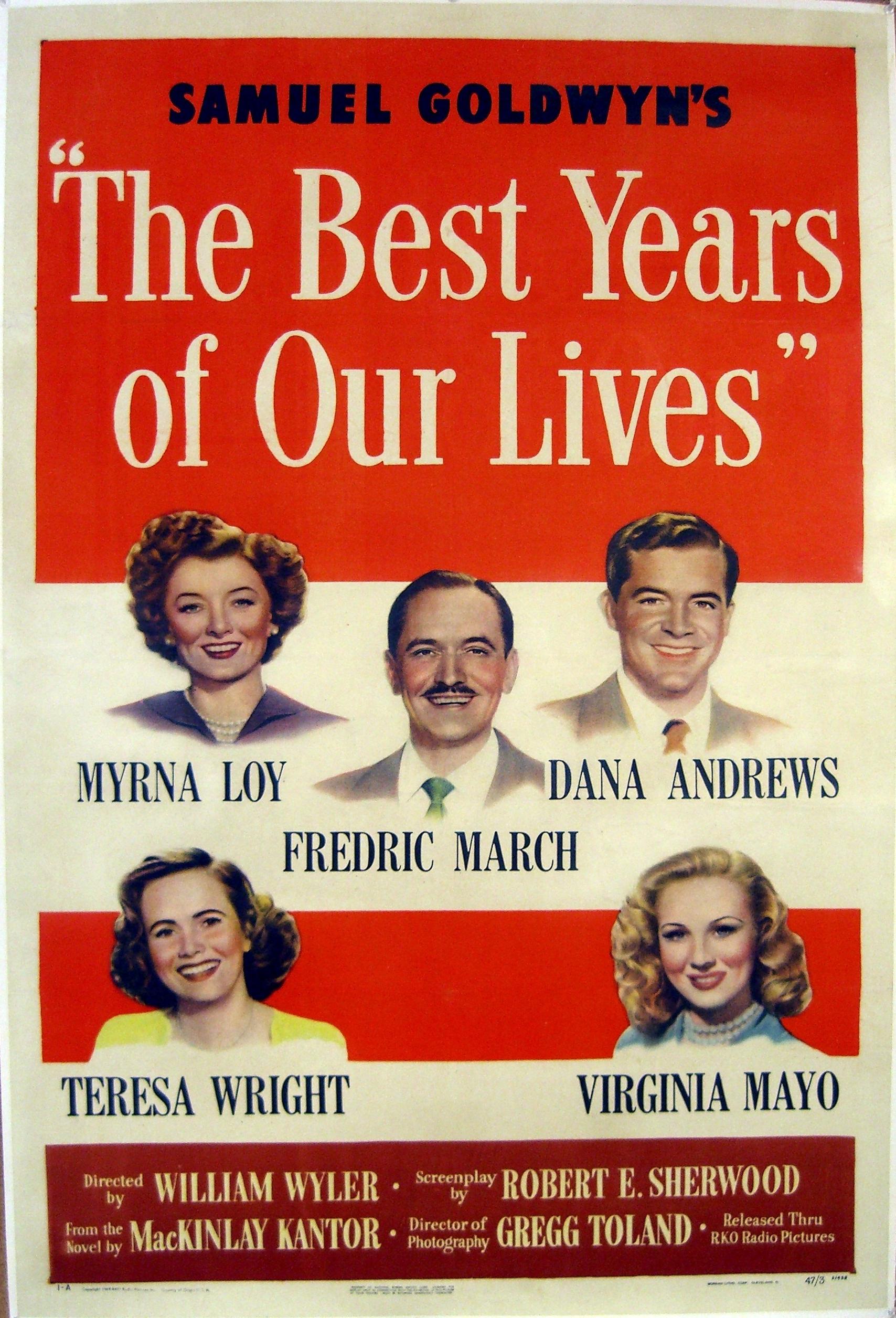 Os Melhores Anos de Nossas Vidas (The Best Years of Our Lives), de Wylliam Wyler