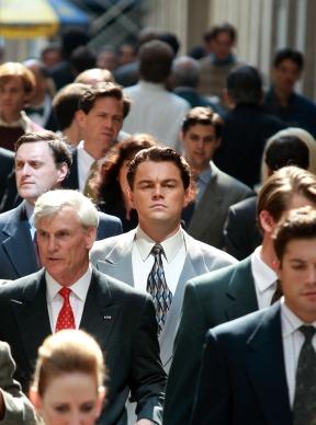 Leonardo DiCaprio em The Wolf of Wall Street. Mais uma chance no Oscar?