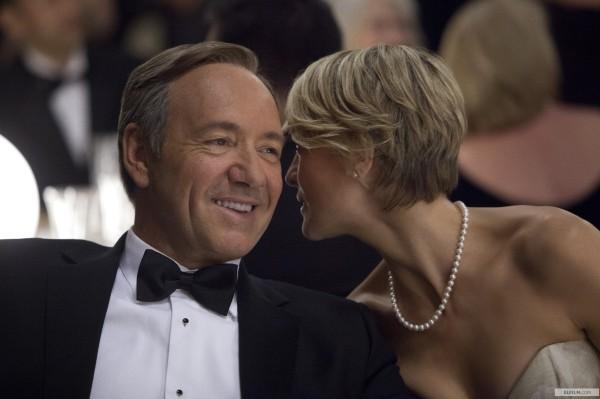 Indicados pela primeira série feita para a internet, House of Cards, Kevin Spacey e Robin Wright trabalharam juntos com o diretor David Fincher (photo by www.elfilm.com)