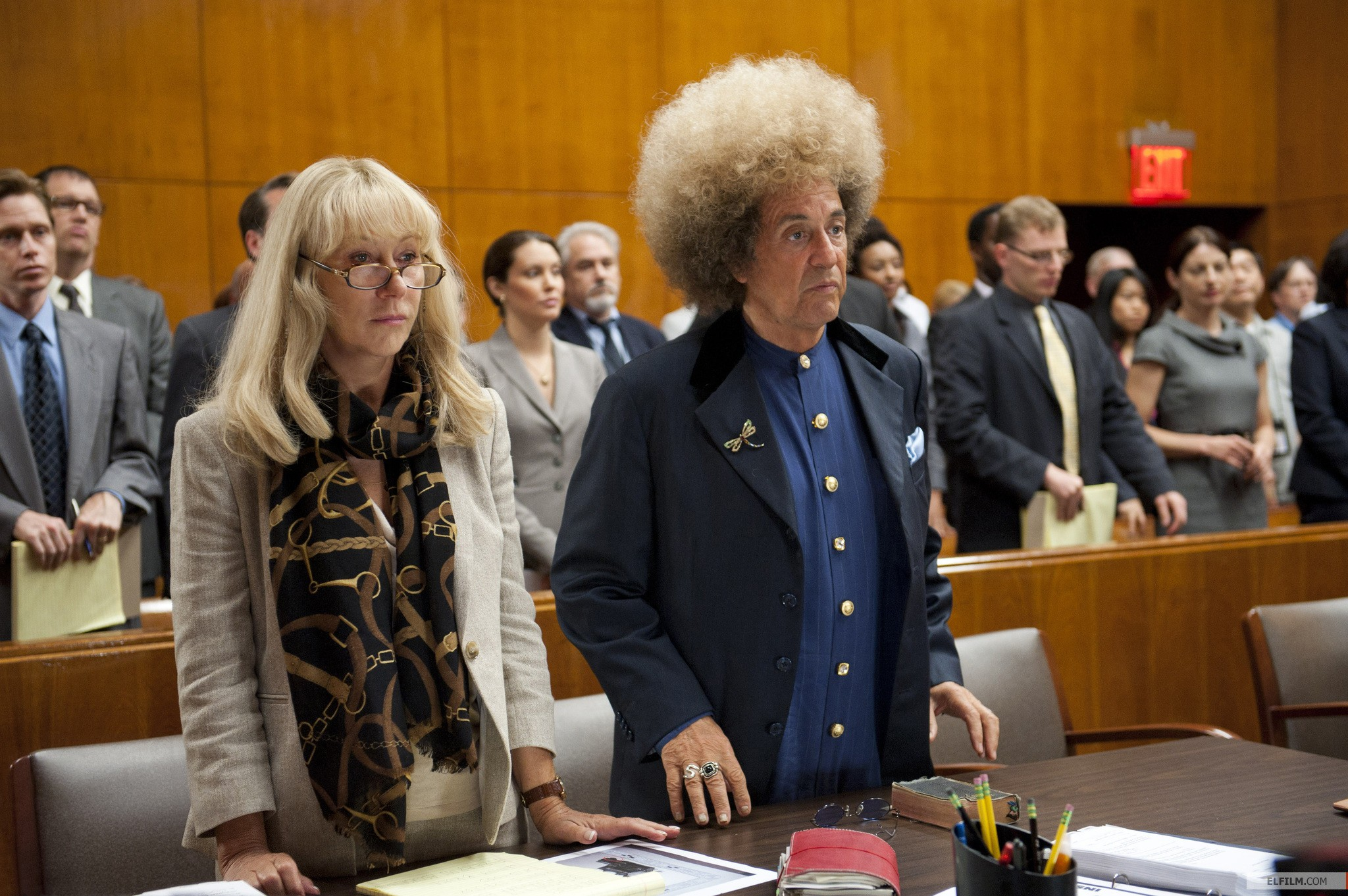 Helen Mirren e Al Pacino caracterizados no telefilme Phil Spector, do diretor David Mamet (photo by www.elfilm.com)