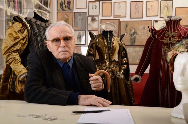 Piero Tosi em estúdio (photo by www.port-magazine.com)