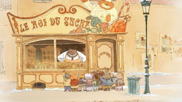 Traços e cores já comprovam qualidade da animação francesa Ernest & Celestine (photo by www.outnow.ch)