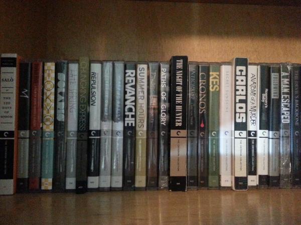 Minha coleção de blu-rays da Criterion