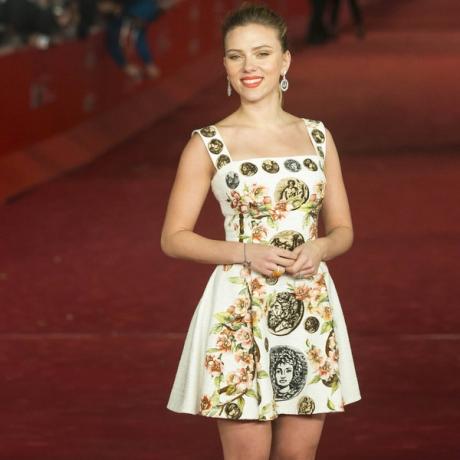 A bela Scarlett Johansson no último Festival de Roma, de onde saiu com o prêmio de Atriz por Ela