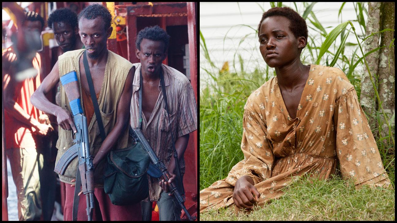 Barkhad Abdi e Lupita Nyong'o foram indicados por Capitão Phillips e 12 Anos de Escravidão (photo by www.hollywoodreporter.com)