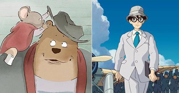 Ernest & Celestine (França) e Vidas ao Vento (Japão) fazem uma mini briga de filme estrangeiro na categoria de Animação pela primeira vez (www.cartoonbrew.com)