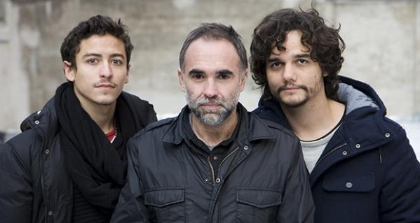 Da esquerda à direita: Clemens Schick, Karim Ainouz e Wagner Moura (photo by cinemascope.com)