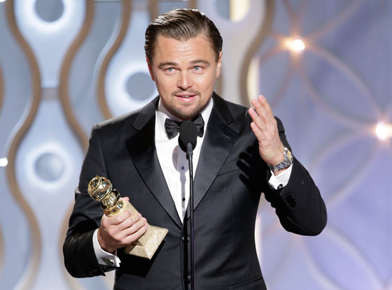 Leonardo DiCaprio vence seu segundo Globo de Ouro (photo by Paul Drinkwater/NBC)