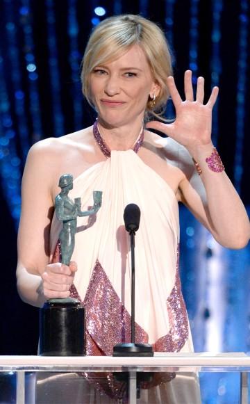Cate Blanchett depois de alguns drinques fez discurso bem humorado (Kevork Djansezian/Getty Images)