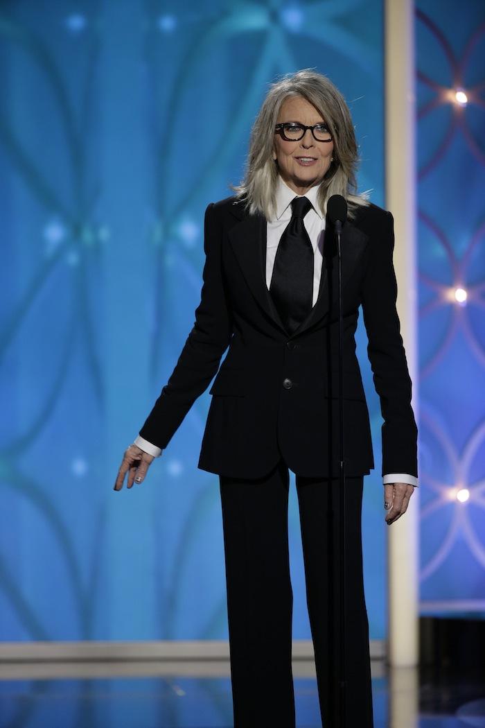 Diane Keaton recebe o Cecil B. DeMille award por Woody Allen