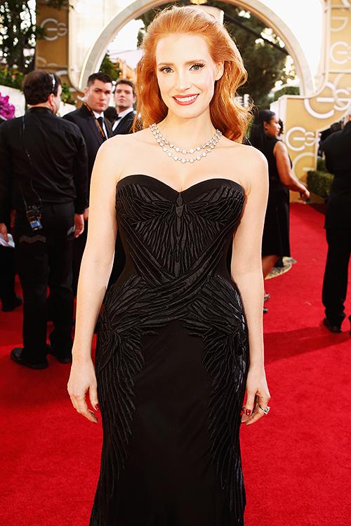 Jessica Chastain: musa do tapete vermelho