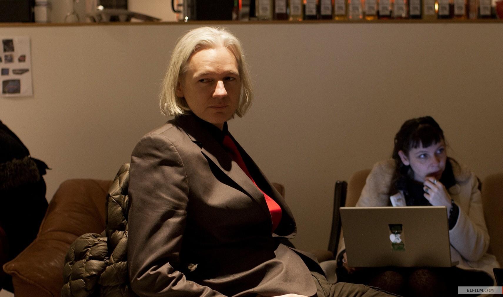 Julian Assange no documentário de Alex Gibney (photo by www.elfilm.com)