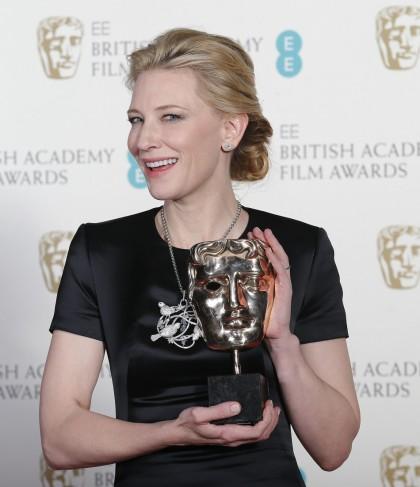 MELHOR ATRIZ: CATE BLANCHETT (BLUE JASMINE). Blanchett praticou a boa e velha política no discurso (photo by Suzanne Plunkett/ Reuters)