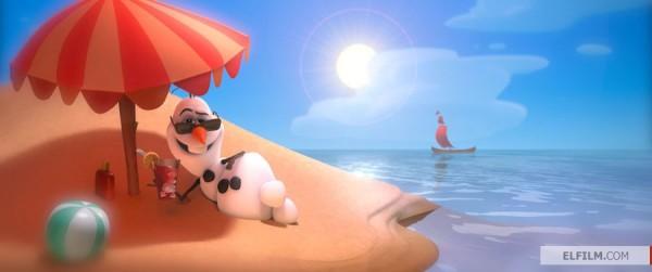 Sonho de neve: O boneco Olaf em cena de Frozen: Uma Aventura Congelante (photo by elfilm.com)