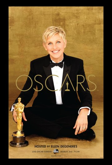 Pôster oficial do Oscar 2014 ressalta a importância da hostess Ellen DeGeneres