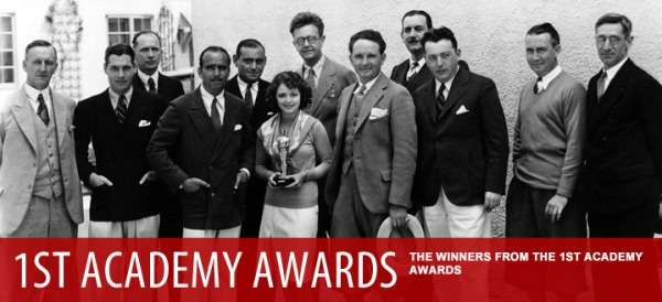 Vencedores do 1º Oscar. No centro: o casal de atores Douglas Fairbanks e Janet Gaynor (photo by www.oscars.org)