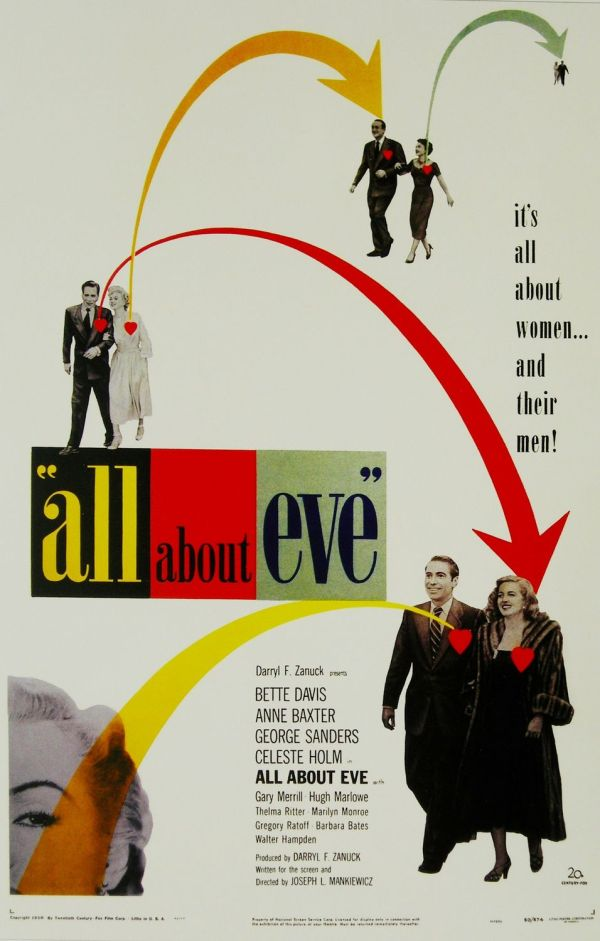 A Malvada (All About Eve), de Joseph L. Mankiewicz: 6 OSCARS
