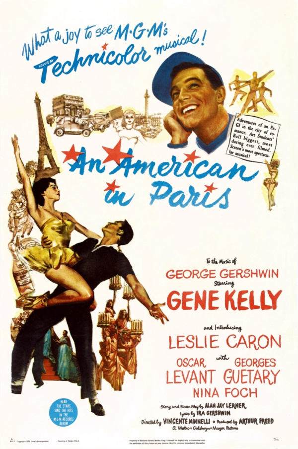 Sinfonia de Paris (An American in Paris), de Vincente Minnelli: 6 OSCARS