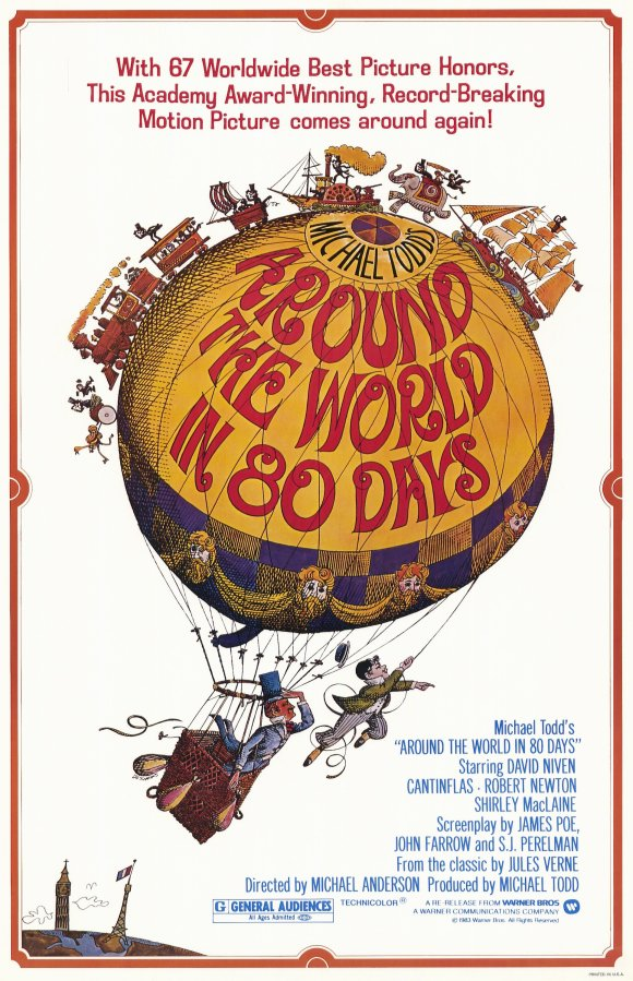 A Volta ao Mundo em Oitenta Dias (Around the World in Eighty Days), de Michael Anderson: 5 Oscars (photo by moviepostershop.com)