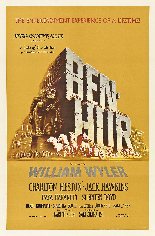 Ben-Hur (Ben-Hur), de William Wyler: 11 Oscars (photo by wikipedia.org)