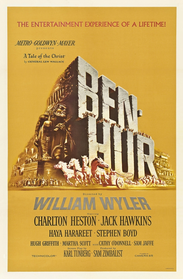 Ben-Hur (Ben-Hur), de William Wyler: 11 Oscars (photo by wikipedia.org)