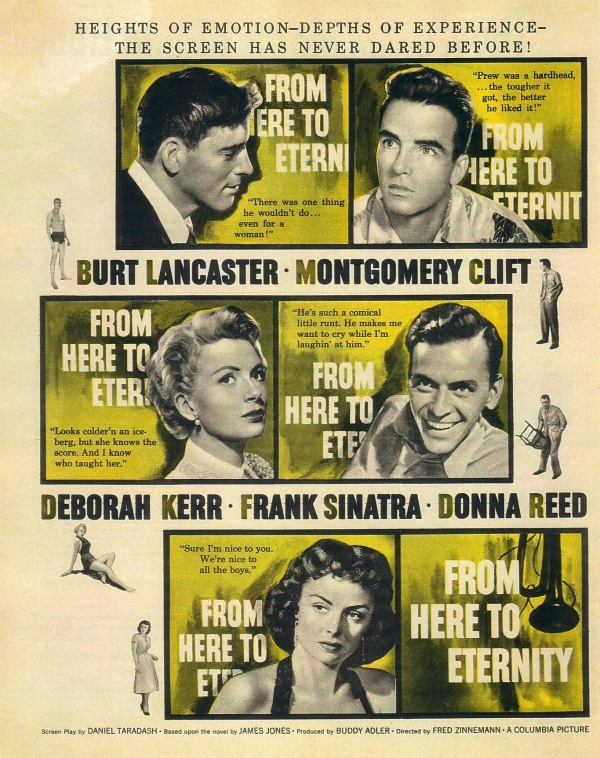 A Um Passo da Eternidade (From Here to Eternity), de Fred Zinnemann: 8 Oscars