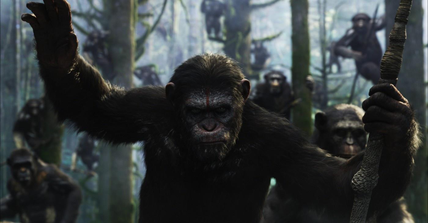 Motion capture ao quadrado na sequência Planeta dos Macacos: O Confronto (photo by outnow.ch)
