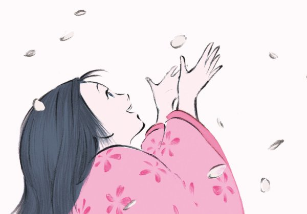 Cena do belo O Conto da Princesa Kaguya, de Isao Takahata (photo by outnow.ch)
