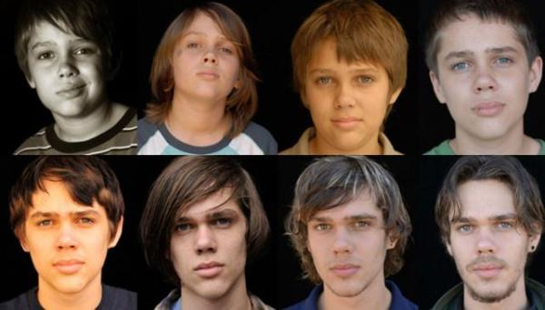 Oito momentos da vida de Ellar Coltrane em Boyhood: Da Infância à Juventude, vencedor do Eddie Award (photo by http://staticvosf5b.lavozdelinterior.com.ar/sites/default/files/styles/landscape_642_366/public/nota_periodistica/boy)