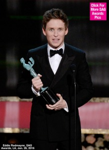 Eddie Redmayne (A Teoria de Tudo) - photo by Getty Images