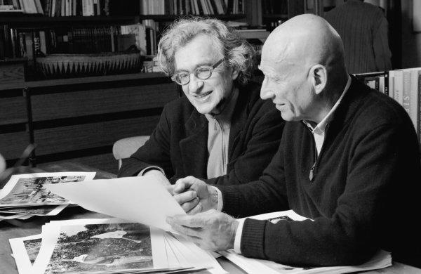 Wim Wenders com o fotógrafo Sebastião Salgado (photo by outnow.ch)