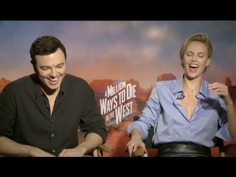 Seth Macfarlane e Charlize Theron em entrevista do filme Um Milhão de Maneiras de Pegar na Pistola (photo by i.ytimg.com)