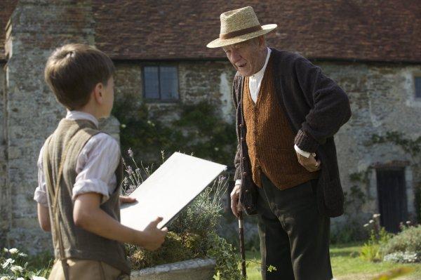 Ian McKellen como Sherlock Holmes em Mr. Holmes (photo by outnow.ch)