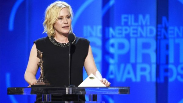 Patricia Arquette discursa por Boyhood (photo by hollywoodreporter.com)