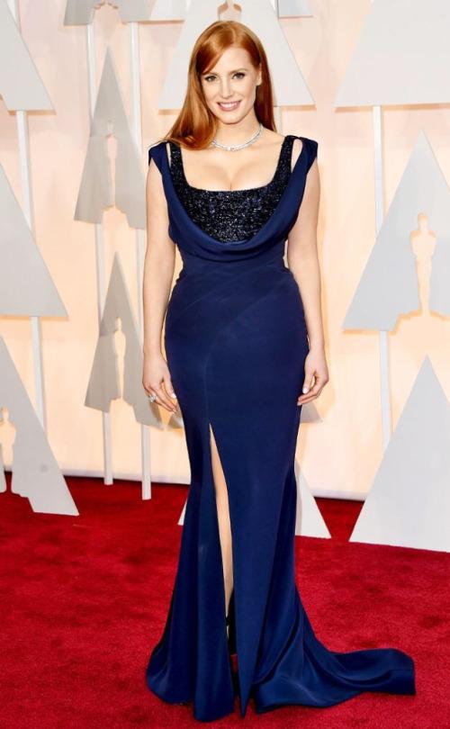 Jessica Chastain nem estava indicada ao Oscar, mas o que seria do Oscar sem Jessica Chastain?