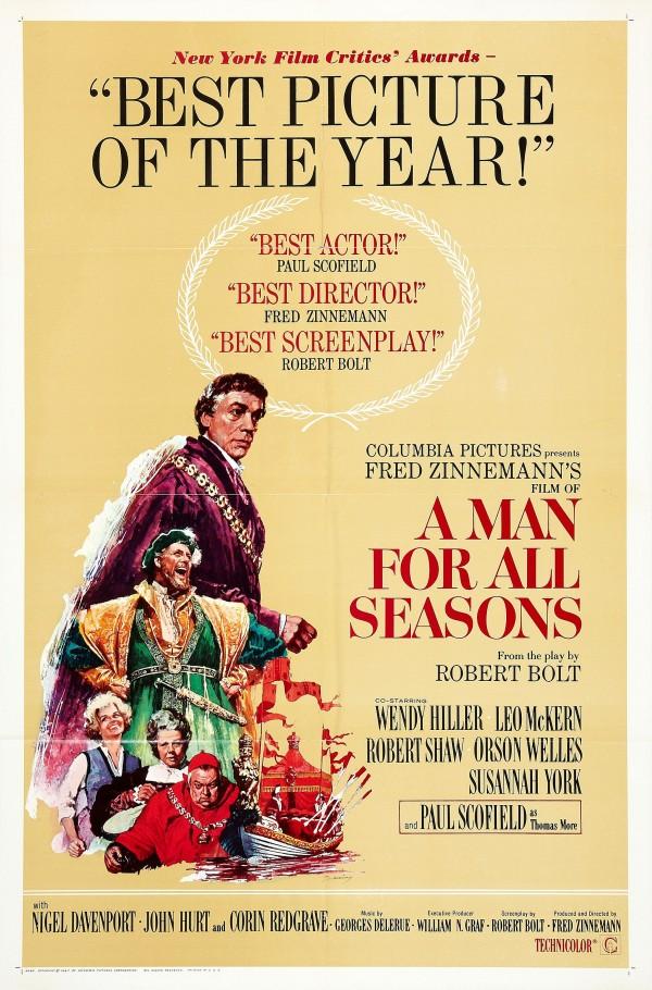 O Homem que Não Vendeu Sua Alma (A Man for All Seasons): 6 Oscars