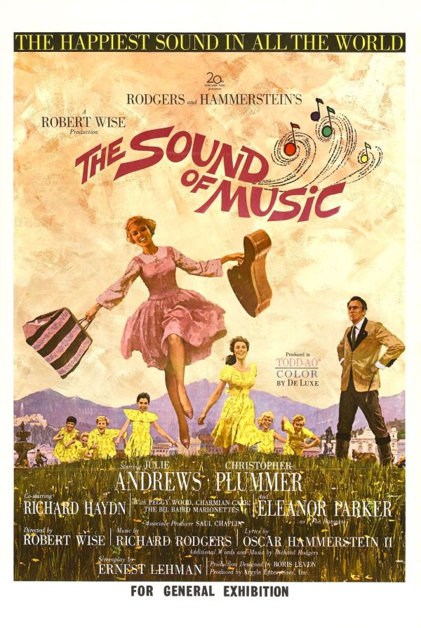 A Noviça Rebelde (The Sound of Music), de Robert Wise: 5 Oscars