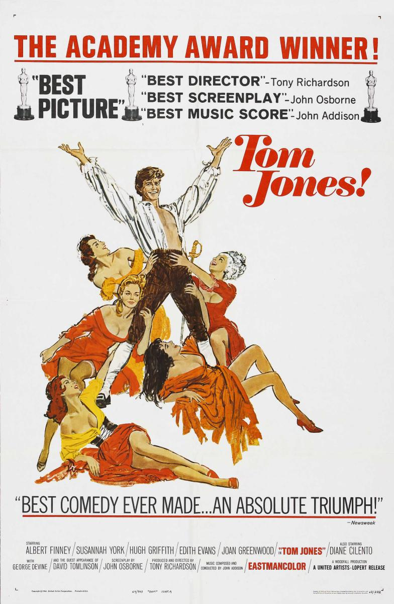 As Aventuras de Tom Jones (Tom Jones), de Tony Richardson: 4 Oscars